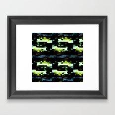 Trees Triangles Framed Art Print