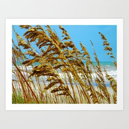 Beyond the Sea Grass lies Eternity Art Print