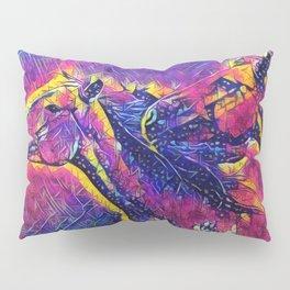 Abstract Wild Horses Pillow Sham