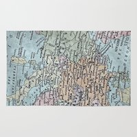 europe Area & Throw Rugs featuring old map of Europe by inourgardentoo