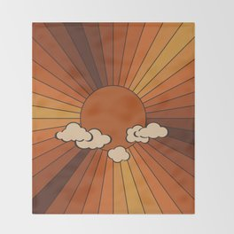 Retro Sunshine Throw Blanket