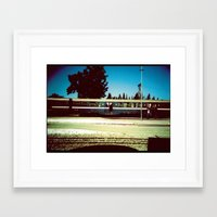 train Framed Art Prints featuring Train by Ibbanez