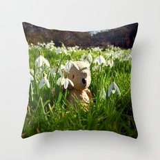 Amongst the Snowdrops Throw Pillow