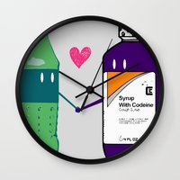 gucci Wall Clocks featuring Lean in Love by Grime Lab