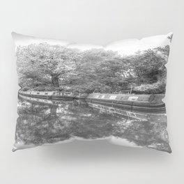 Narrow Boats Grand Union Canal Pillow Sham