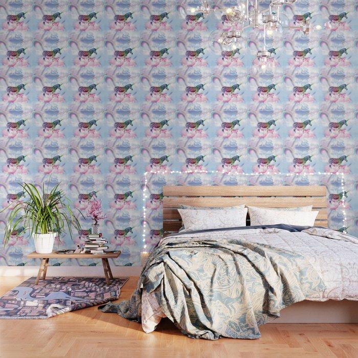 Rainbow Zebra Unicorn Wallpaper By Randomgalaxy