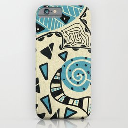 Doodle #1 with Blue iPhone Case