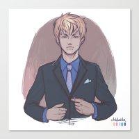 yaoi Canvas Prints featuring Suit up, Noiz by Aleksandra Chabros aka Adelaida