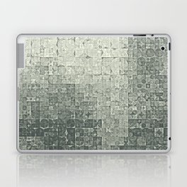 monochrome circles Laptop & iPad Skin