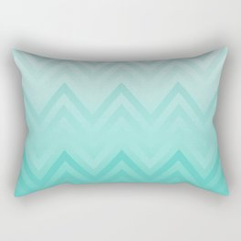 Fading Teal Chevron Rectangular Pillow