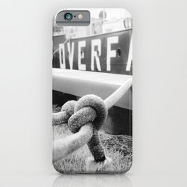Ropes of Overfalls Lightship Black and White Photograph iPhone Case