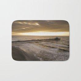 Folly Beach Pier in Gold Bath Mat