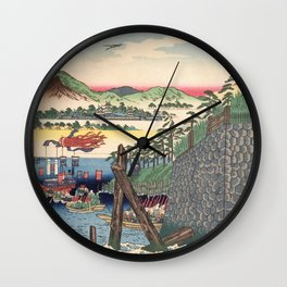 Tokaido, Okazaki - Digital Remastered Edition Wall Clock