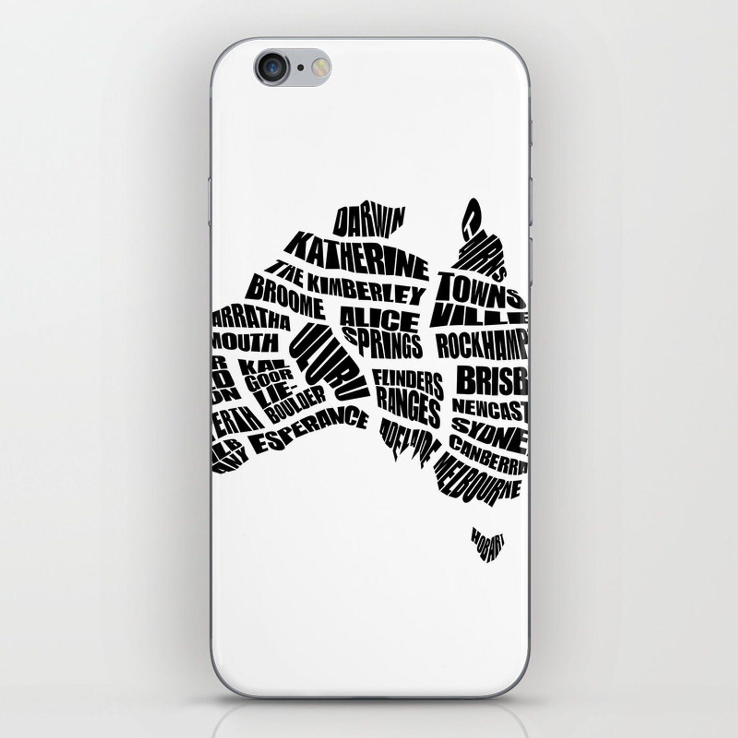 Australia Word Map.Australia Word Map Black And White Iphone Skin By Inkofmegraphics