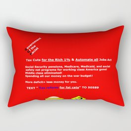 More Deficit=Less Money for You Rectangular Pillow