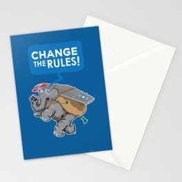 CHANGE The RULES Stationery Cards