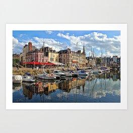 Honfleur Pretty As A Postcard Art Print