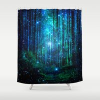 marianna Shower Curtains featuring magical path by haroulita
