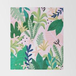 Into the jungle - sunrise Throw Blanket