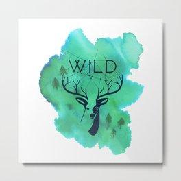 Wild deer Metal Print