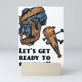 Pirate Skull Lets Get Ready To Rumble Mini Art Print