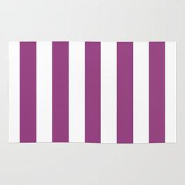 Violet (crayola) - solid color - white vertical lines pattern Rug