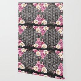 Flower of Life Rose Garden Wallpaper