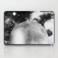 decal iPad Cases featuring Moon by haroulita