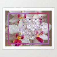calendar 2015 Art Prints featuring Calendar 2015 Orchids by Lena Photo Art