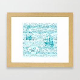 Two Vessels Framed Art Print