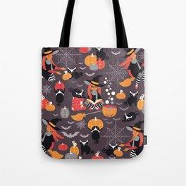 Enchanted Vintage Halloween Spell Tote Bag