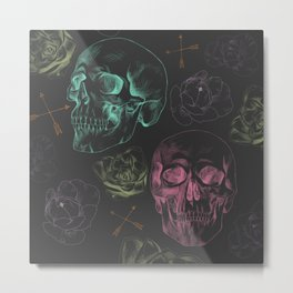 [negative] Skulls Metal Print