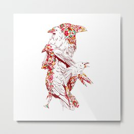 Vintage Cute Eagle Metal Print