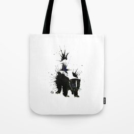 Skunk - Ink Blot Tote Bag