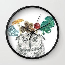 Owl Painting Wall Clock