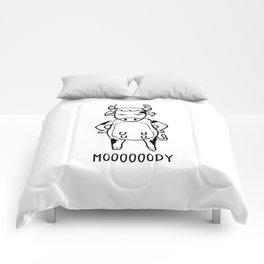 Mooody T Shirt Moody Funny Cow Pun Calf Farmers Gift Comforters