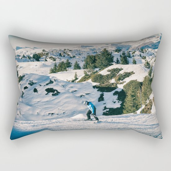 le skieur 7 Rectangular Pillow