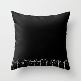 Night Cats Throw Pillow