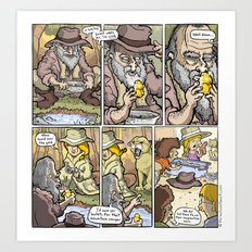 Gold Rush! Art Print