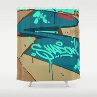 shadow Shower Curtains featuring SHADOW by clogtwo