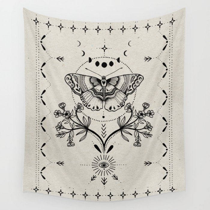Magical Moth Wall Tapestry