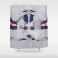 technology Shower Curtains featuring hating bad technology by joseph arruda (zeruch)