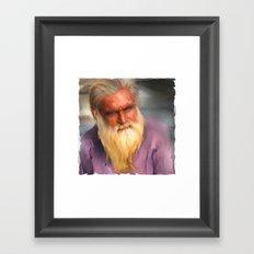 One Man's Story Framed Art Print