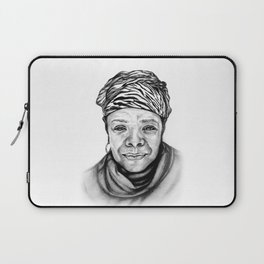 Maya Angelou - BW Original Sketch Laptop Sleeve