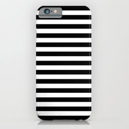 Abstract Black and White Stripe Lines 15 iPhone Case
