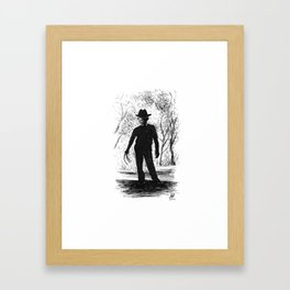 One, Two, Freddy's Coming For You Framed Art Print
