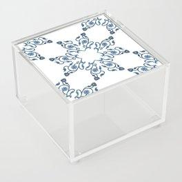 Blue Floral Heart Tile Acrylic Box