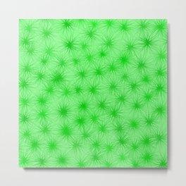 Green Fuzzball Abstract Metal Print