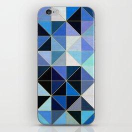 Golden geometric pattern XVIII iPhone Skin