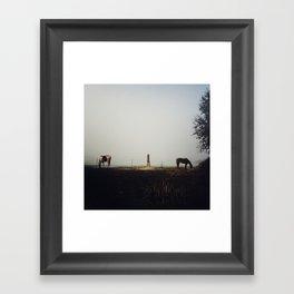 Back to Back Framed Art Print